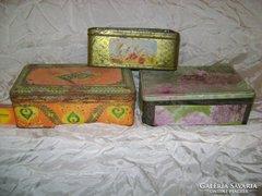 Három darab régi lemezdoboz - együtt eladó