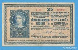 25 korona 1918. (egyszer hajtott)