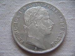 Extra állapotú Ezüst 1 Florin 1860 A