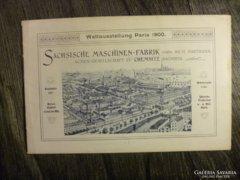 Mozdony katalógus Párizsi világkiállítás 1900