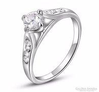925-ös ezüst gyűrű fehér kristály kővel 8-as ÚJ!