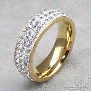 Kristály köves gyűrű 8-as ÚJ!