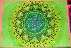 Gyógyító mandala 50x70-es vászon-akril