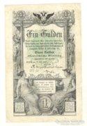 Egy forint / gulden 1866. I.