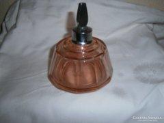 Parfümös lapra csiszolt antik  üveg