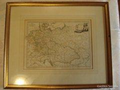 Európa térkép rézmetszet 1789.