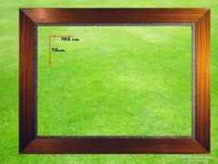 6764 Antik politúrozott tükörkeret 75 x 105