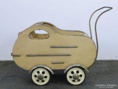 0E222 Antik rolós retro babakocsi 50-es évek