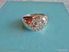 Egyedi,elegáns,szép nagy köves ezüstgyűrű