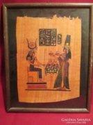 21x26 cm egyiptomi kép pergamenre