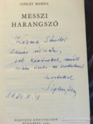 Sipkay Barna dedikált könyve 1963 első kiadás
