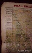 1950-es kiadásu Budapest térkép