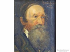 0E726 Rodnár Anna : Nemes férfi portré 1900-ból