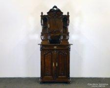 0F217 Antik bécsi barokk tálaló szekrény 1860-70
