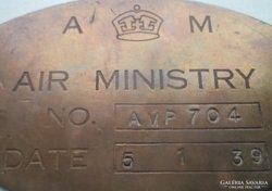 Brit Légügyi Minisztérium azonosító táblája.1939.