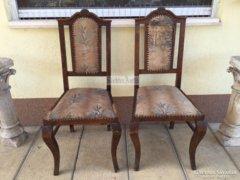 Antik bútor, polgári szék 2db.