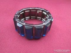Gyönyörű kék sz. Turmalin v. Tanzanit hatású gumis karperec