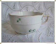 Gyönyörű, antik,jelzett, aranyozott szélű herendi csésze