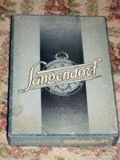 Antik Langendorf zsebóra alkatrész karton doboz