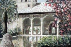- Alhambra, Granada - olajfestmény