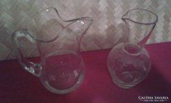 Csőrös huta kancsó és kocsmai huta pintes üveg.A kettő 2000