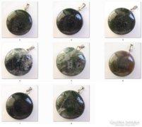 Markazit ásván medál ezüstözöt kapoccsal több féle EBME-ÁS77