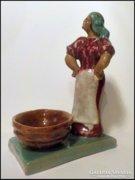Jelzett Művész Kerámia art deco ,  kerámia szobor