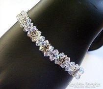 Swarovski kristály karkötő 925-ös ezüst kapoccsal SKE-SW04