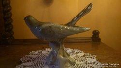 Szép Royal Dux porcelán madár