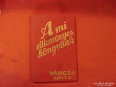 Váncza süteményeskönyv