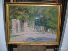 Dobos Lajos: Tokaj  1956 - festmény eladó
