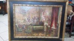 Ismeretlen európai festő: Francia szalonbelső