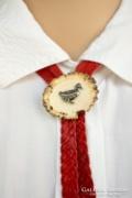 Vadász nyakkendő, szarvas agancs ékszer, csont kiegészítő