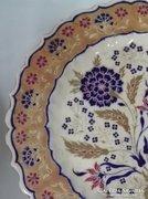 Nagyméretű Zsolnay antik  tortástál