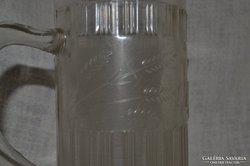 Dombodíszítéses jelzett üveg korsó  ( DBZ0043 )