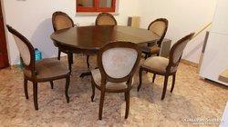 Hagyatékból eladó neobarokk asztal 6db székkel Budapesten