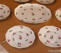 Herendi Petites roses szendvicses-készlet. 6 személyes.