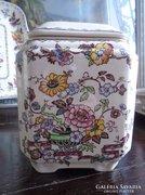 Antik  MASON'S fajansz részben kézzel festett tea tartó.