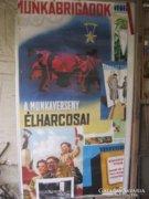 Hatalmas - 210 x 110 cm. ! - szoc-reál plakát.
