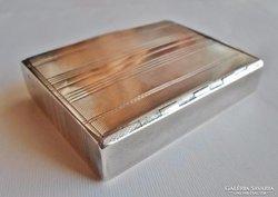 Szép régi art deco ezüst cigarettatárca