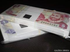 2 KÖTEGx100 db SORSZÁMKÖVETŐ UNC BANKJEGY,BANKFRISS,RITKA