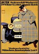 Audi art-deco poster reprodukció