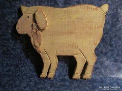 Régi fa húsvéti dekoráció bárány