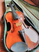 Antik hegedű 4/4-es tokkal vonóval 1950-60-as évekbeli