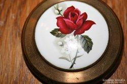 Antrik porcelán kézzel festett púderes szelence