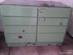 Vintage ,Loft design 8 fiokos szekreny,szatócs pult