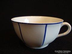 Drasche porcelán kék csíkos csésze