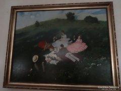 Szinyei Merse Pál - Majális Reprodukció olaj festmény