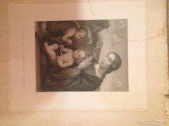 Rézkarc  Mária gyermekkel