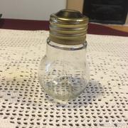 Villanykörte alakú üveg csavaros tartó...